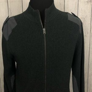Express XL Gray Full Zip Long Sleeve Sweater